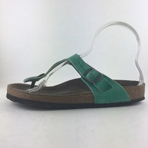 Birkenstock Teal/Aqua Thong Sandals Women's 38